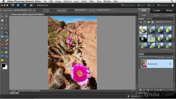 Basic workflow: Quick Fixes with Photoshop Elements 10