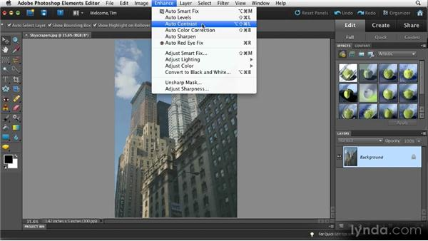 A quick fix for contrast: Quick Fixes with Photoshop Elements 10