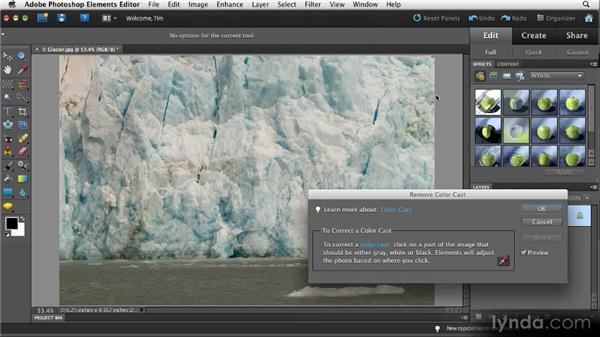 A quick color cast fix: Quick Fixes with Photoshop Elements 10