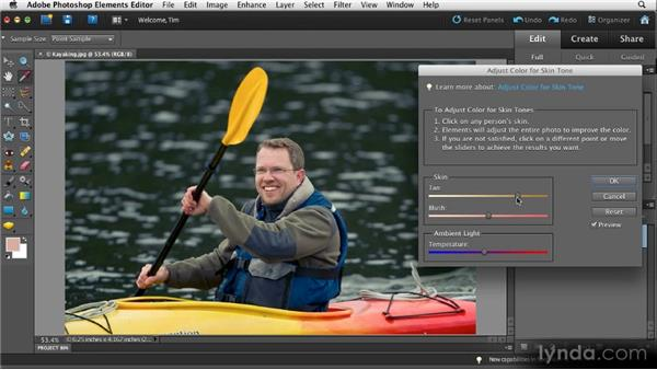 Fixing skin tones: Quick Fixes with Photoshop Elements 10