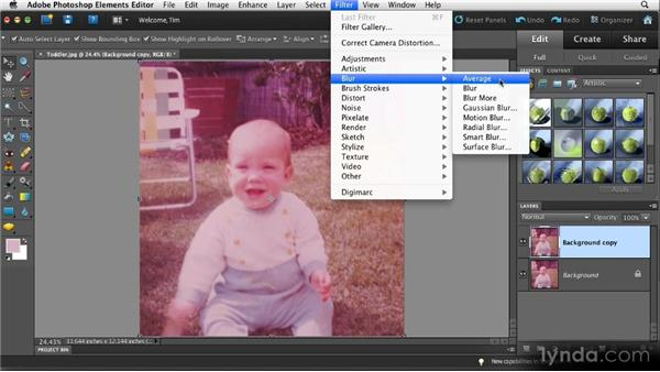 Resolving a strong color cast: Quick Fixes with Photoshop Elements 10