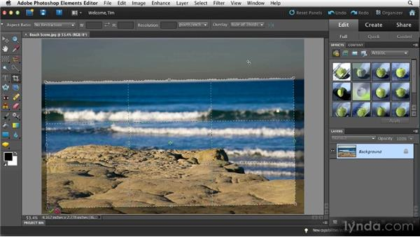 Cropping and rotating: Quick Fixes with Photoshop Elements 10