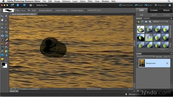 Basic blemish removal: Quick Fixes with Photoshop Elements 10