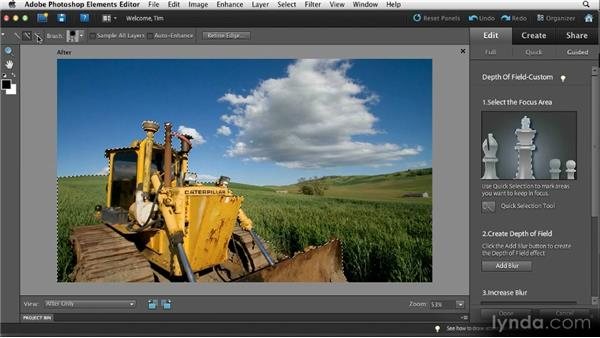 Narrowing the focus: Quick Fixes with Photoshop Elements 10