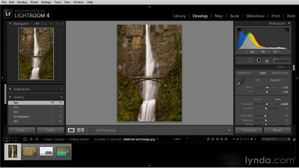 Correcting mistakes with the History and Snapshot features: Lightroom 4 Image Optimization Workshop