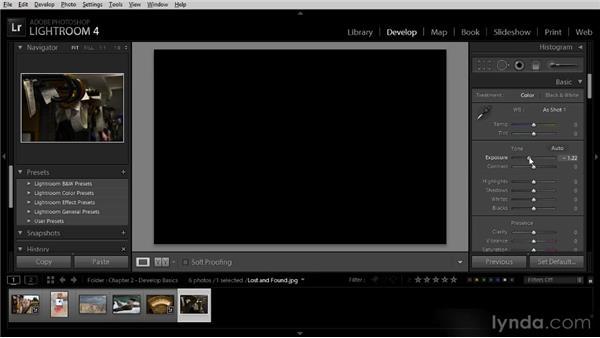 Basic exposure controls: Lightroom 4 Image Optimization Workshop
