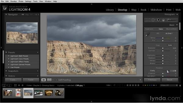 Adding clarity to an image: Lightroom 4 Image Optimization Workshop