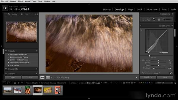 Fine-tuning with the Tone Curve adjustment: Lightroom 4 Image Optimization Workshop