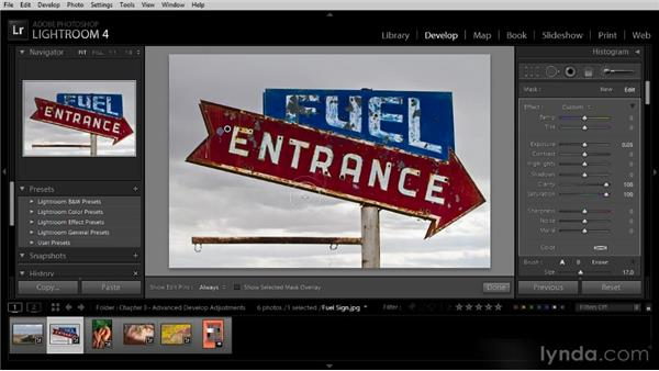 Painting adjustments into an image: Lightroom 4 Image Optimization Workshop