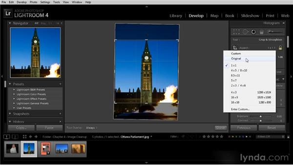 Cropping and straightening photos: Lightroom 4 Image Optimization Workshop