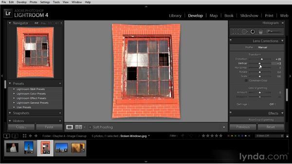 Lens correction adjustments: Lightroom 4 Image Optimization Workshop