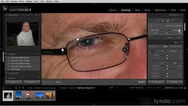Removing red-eye: Lightroom 4 Image Optimization Workshop