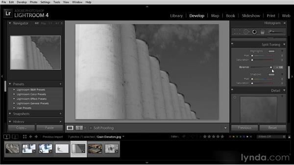 Adding a color tint: Lightroom 4 Image Optimization Workshop
