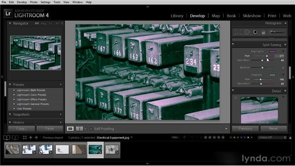 Split toning effects: Lightroom 4 Image Optimization Workshop