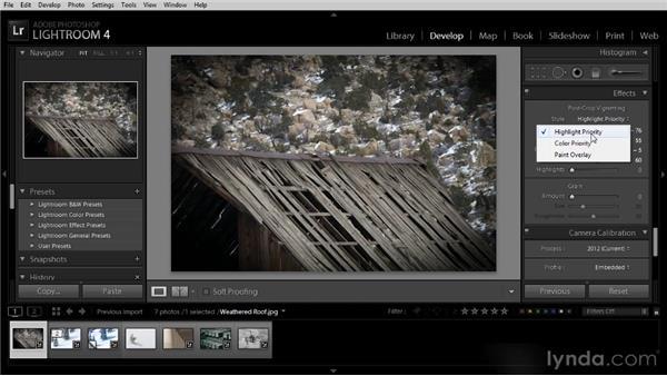 Adding a vignette effect: Lightroom 4 Image Optimization Workshop