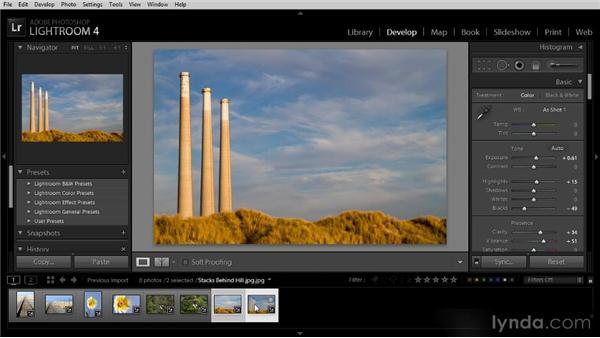 Synchronizing Develop settings: Lightroom 4 Image Optimization Workshop