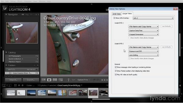 Loupe view display options: Lightroom 4 Image Management Workshop