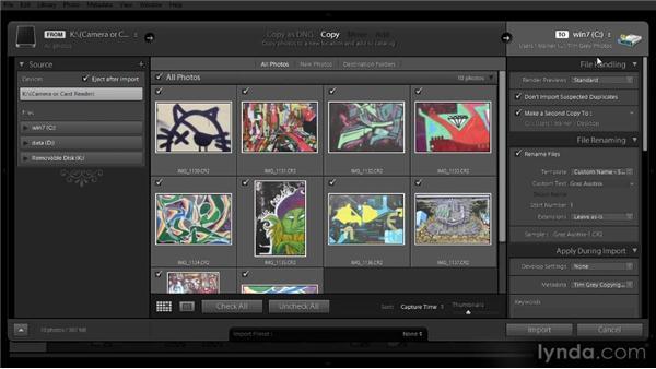 Importing subsequent images: Lightroom 4 Image Management Workshop