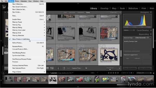Locating images to review: Lightroom 4 Image Management Workshop