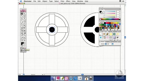 stroke fill: Illustrator CS Essential Training