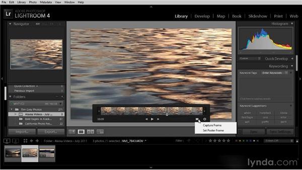 Working with videos: Lightroom 4 Image Management Workshop