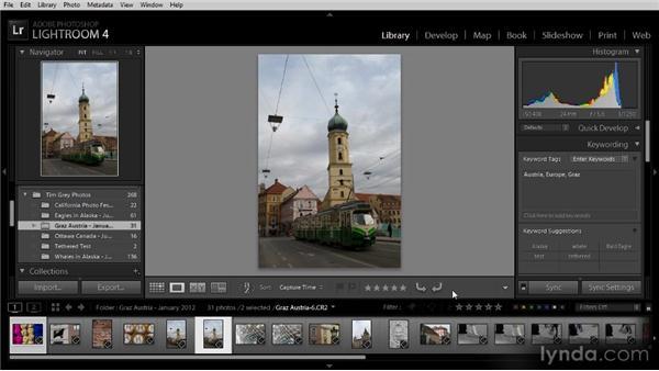 Configuring the toolbar: Lightroom 4 Image Management Workshop