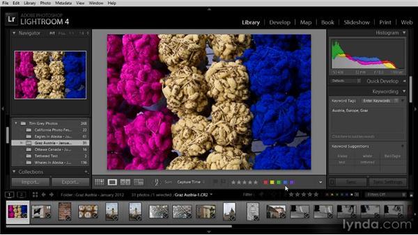 Using color labels to identify images: Lightroom 4 Image Management Workshop