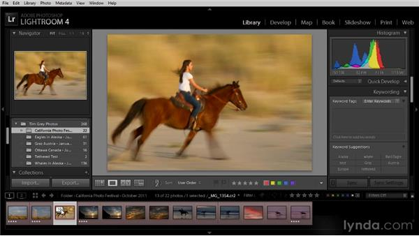 Working with image stacks: Lightroom 4 Image Management Workshop