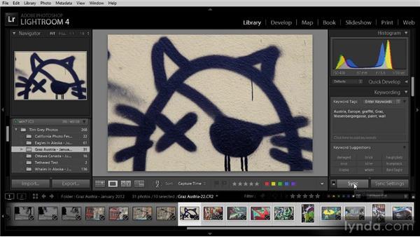 Synchronizing metadata: Lightroom 4 Image Management Workshop