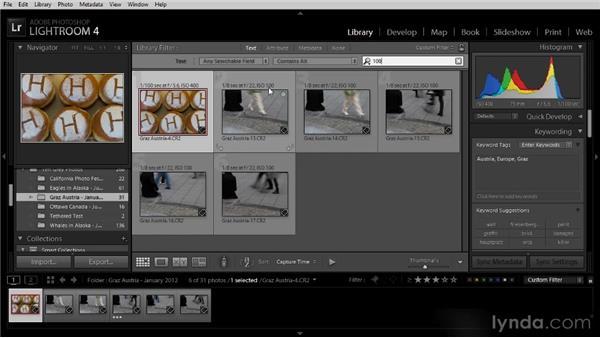 Advanced image filtering with the Library Filter: Lightroom 4 Image Management Workshop