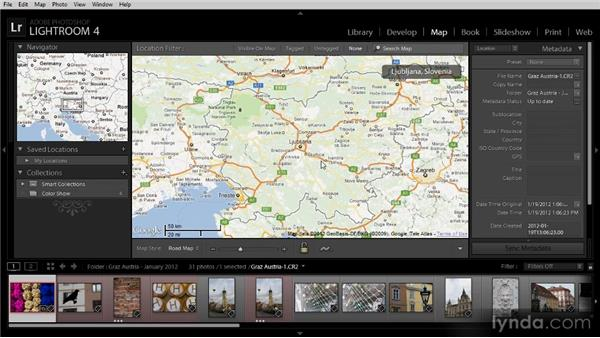 Finding images on the map: Lightroom 4 Image Management Workshop