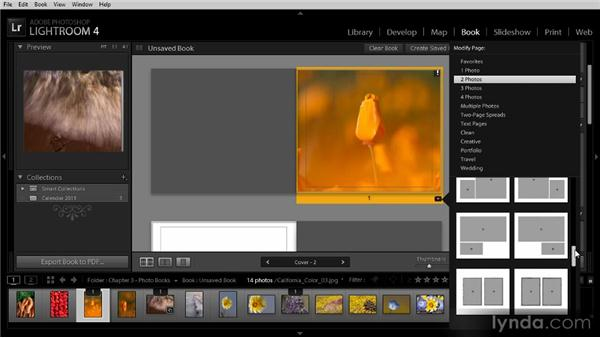 Designing a book layout: Lightroom 4 Image Sharing Workshop