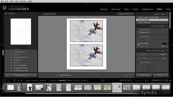 Creating a picture package: Lightroom 4 Image Sharing Workshop