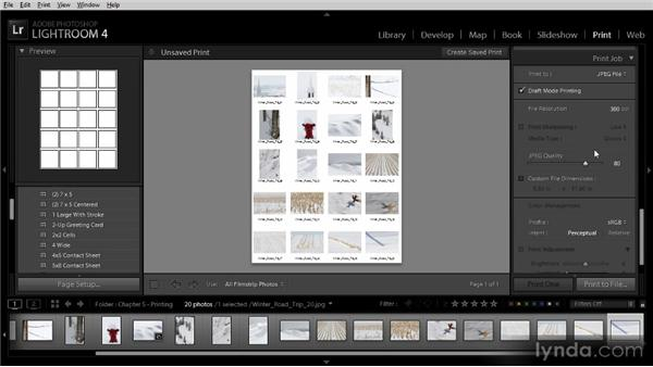 Printing to a JPEG image: Lightroom 4 Image Sharing Workshop