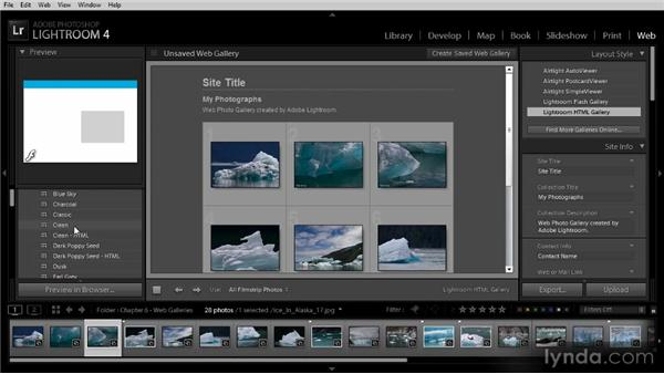 Getting started with a web gallery: Lightroom 4 Image Sharing Workshop