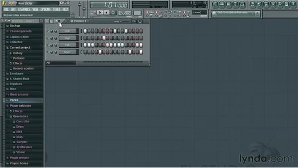 Creating a beat: Up and Running with FL Studio