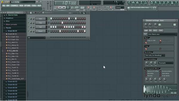 Adding samples: Up and Running with FL Studio
