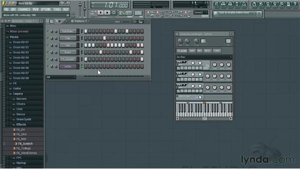 Adding instruments: Up and Running with FL Studio