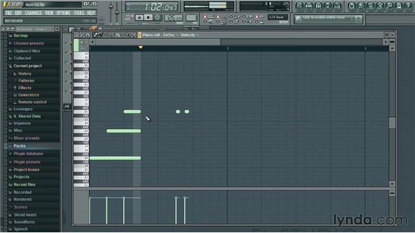 Using the Piano roll: Up and Running with FL Studio