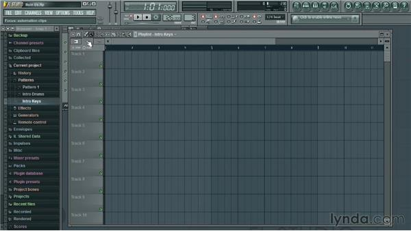 Examining the Playlist window: Up and Running with FL Studio