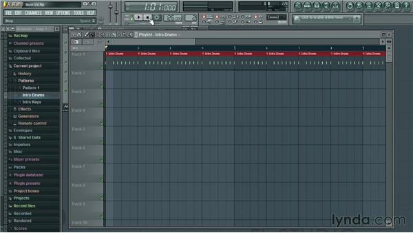 Combining patterns: Up and Running with FL Studio