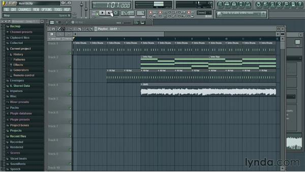 Adding audio clips: Up and Running with FL Studio