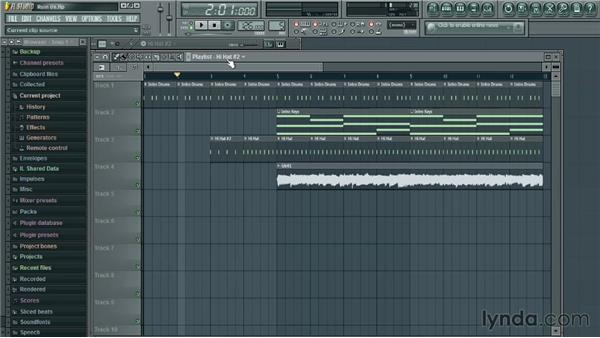 Editing audio clips: Up and Running with FL Studio