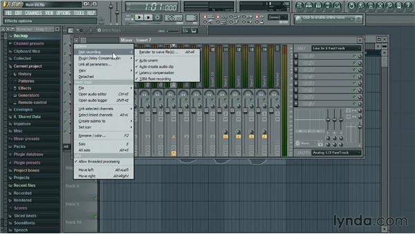 Recording a live instrument: Up and Running with FL Studio