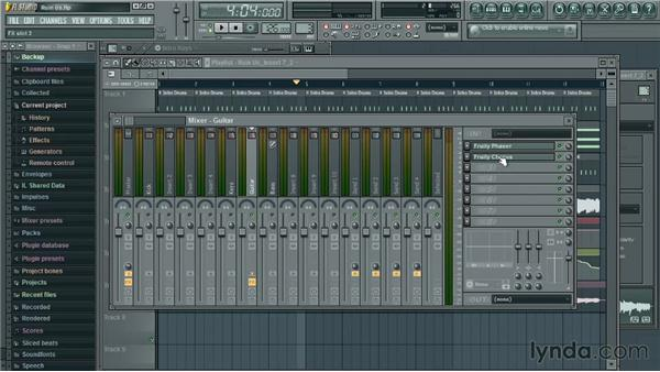 Inserting plugins: Up and Running with FL Studio