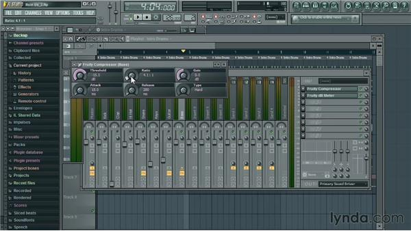 Playing with compression: Up and Running with FL Studio