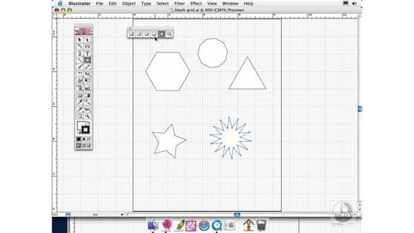 polygon and star: Illustrator CS Essential Training