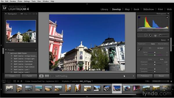 Getting to know the Lightroom interface: Getting Started with Lightroom 4