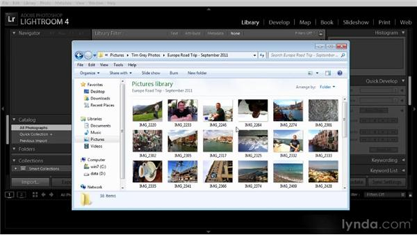Establishing a folder structure: Getting Started with Lightroom 4