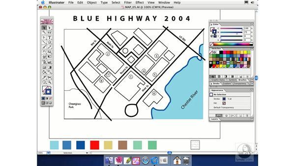 adding color: Illustrator CS Essential Training